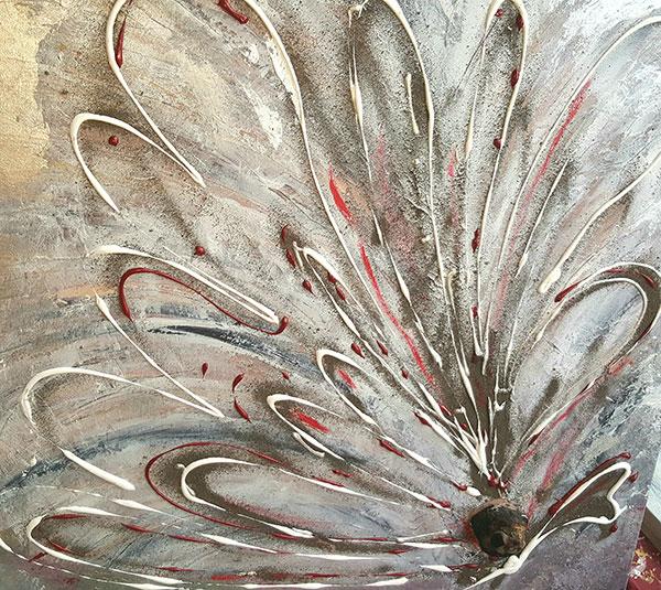Blumen-Schmetterling 100 x 100 cm, 450,- Euro