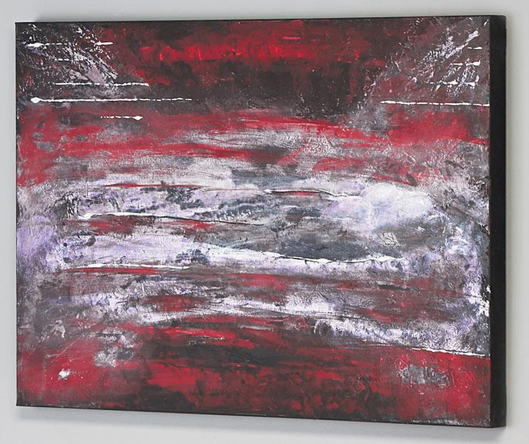 Feuerglut 70 x 100 Elisabeth Rose moderne Bilder für Wohnzimmer Esszimmer abstrakte Malerei auf Leinwand Acryl