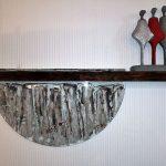 Wandobjekt Baumkante trifft auf Glasobjekt, 160 x 40 cm, 490,- Euro