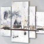 Eiche verbindet: Wandbild mehrteilig auf Leinwand hochwertige Acyrlmalerei Elisabeth Rose
