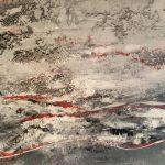 Elisabeth Rose Eislandschaft mit Sand von Kos 70 x 100 cm 450 Euro