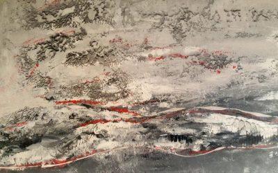 Eislandschaft mit Sand von Kos 70 x 100 cm 450 Euro