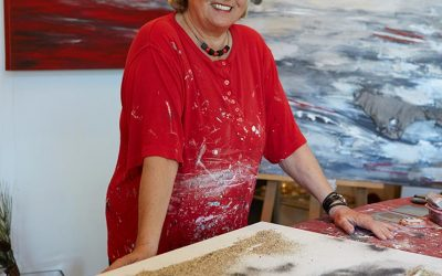 Elisabeth Rose in Aktion im Atelier