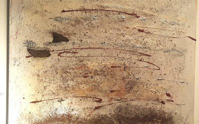 Madeiraerde mit Treibholz  80 x 80 cm, 450,- Euro