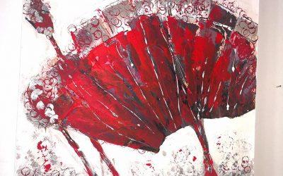 Fächerblume 80 x 80 cm 450,- €