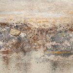 Griechische Landschaft mit Lavastein 80x80 450,- €